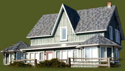 Charcoal Gray enhanced metal roofing shake